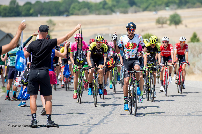 Lunch is served. Stage 2, 2018 LHM Tour of Utah cycling race (Photo by Dave Richards, daverphoto.com)