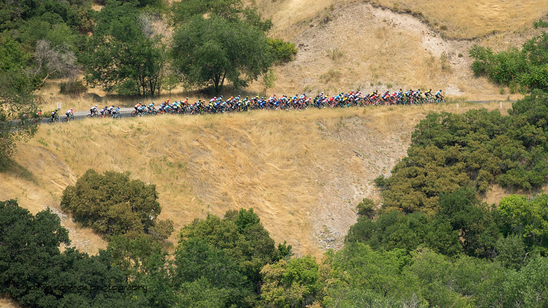 Riders above City Creek Canyon. Stage 4 Salt Lake City, 2018 LHM Tour of Utah cycling race (Photo by Dave Richards, daverphoto.com)