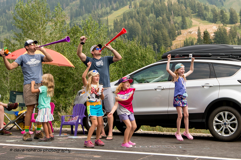Eager Fans. Stage 5 Queen Stage - Canyons ski resort to Snowbird ski resort, 2018 LHM Tour of Utah cycling race (Photo by Dave Richards, daverphoto.com)