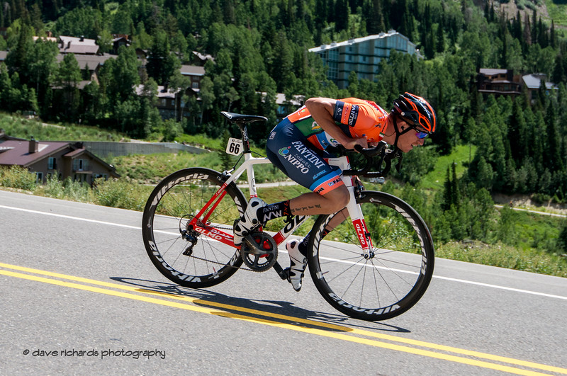 Kids! don't try this at home! Prologue at Snowbird, 2019 LHM Tour of Utah (Photo by Dave Richards, daverphoto.com)