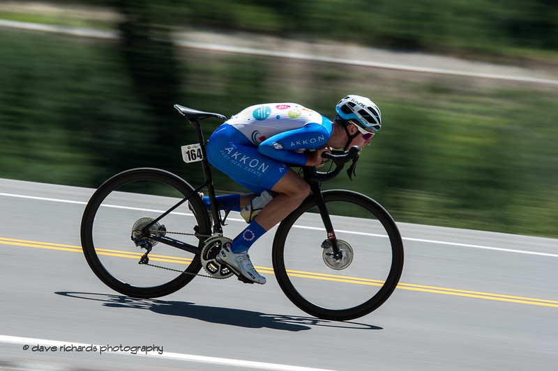 Dominik Bauer (Team Dauner|Akkon) is full on aero at speed down the descent during the Prologue at Snowbird, 2019 LHM Tour of Utah (Photo by Dave Richards, daverphoto.com)