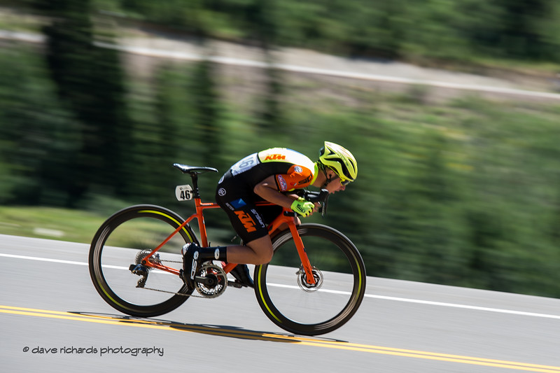 LIfe's a blur when you're going fast. Prologue at Snowbird, 2019 LHM Tour of Utah (Photo by Dave Richards, daverphoto.com)