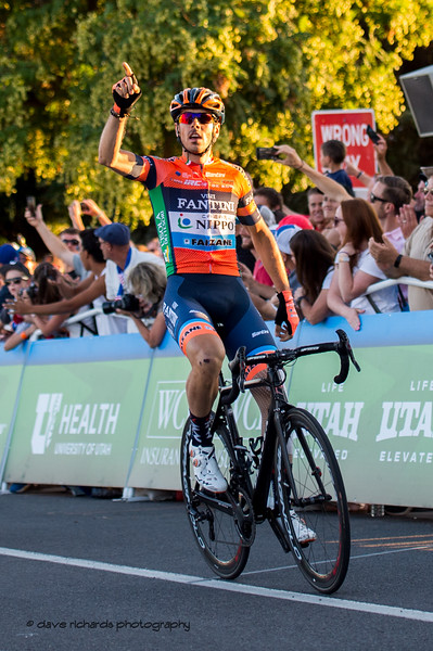 Marco Canola (NIPPO-Vini Fantini-Faizanè) wins Stage 4 - Salt Lake City Circuit Race, 2019 LHM Tour of Utah (Photo by Dave Richards, daverphoto.com)