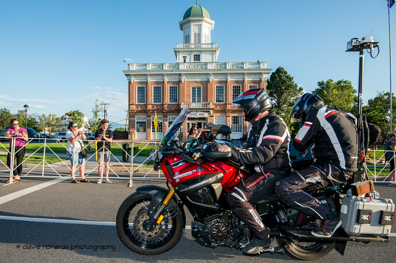 Jason Jenkins, ace Mediamotos.TV driver passes by the historic Council Hall building. Stage 4 - Salt Lake City Circuit Race, 2019 LHM Tour of Utah (Photo by Dave Richards, daverphoto.com)