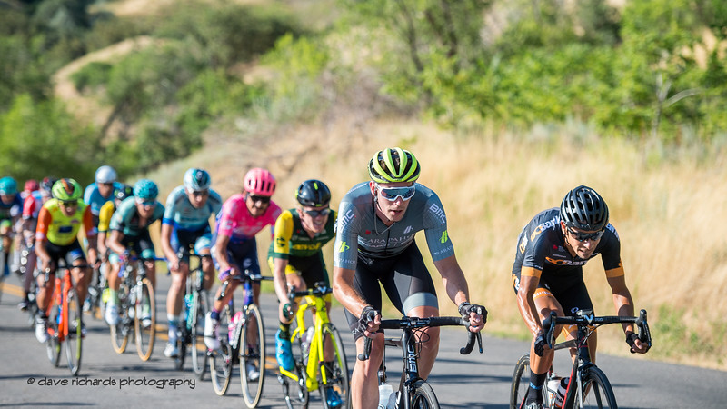 The peloton rolls by above City Creek Canyon. Stage 4 - Salt Lake City Circuit Race, 2019 LHM Tour of Utah (Photo by Dave Richards, daverphoto.com)