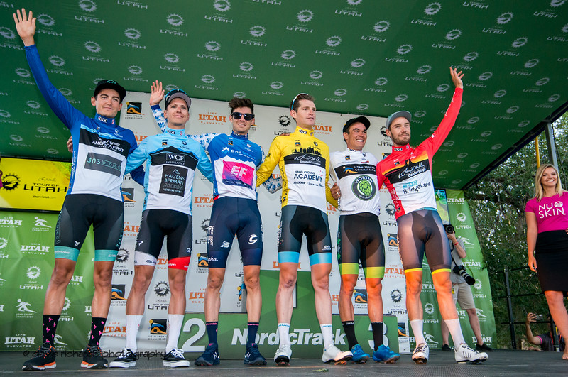 Jersey Leaders after Stage 4 - Salt Lake City Circuit Race, 2019 LHM Tour of Utah (Photo by Dave Richards, daverphoto.com)