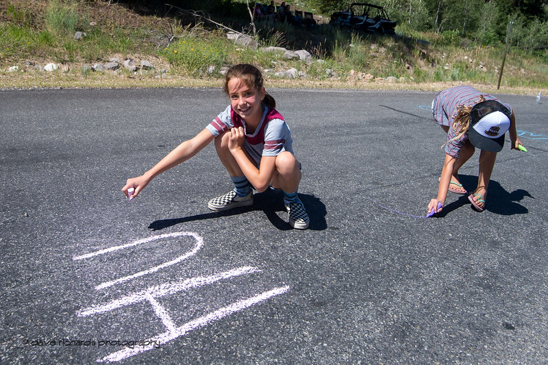 Young fans on the road. Stage 6, 2019 LHM Tour of Utah (Photo by Dave Richards, daverphoto.com)