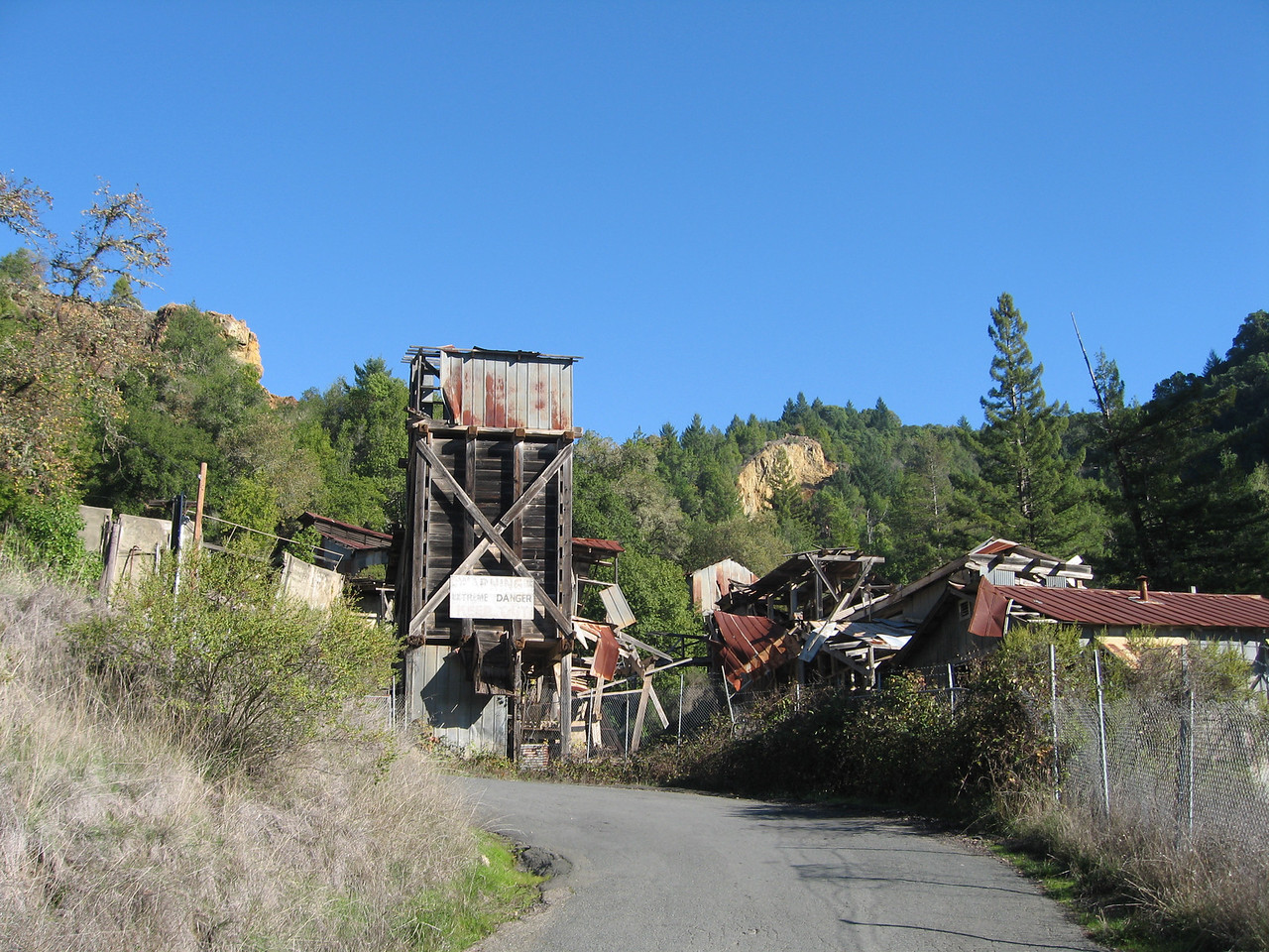 Crazy mine shaft on one of the steep curvy back roads we decided to take.