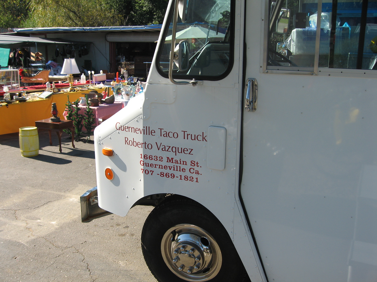 The Guerneville TACO TRUCK!!!  Woohoo!!!  And it was damn good!