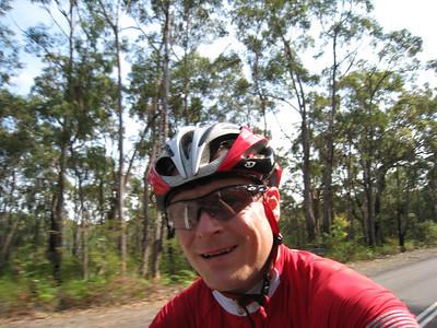 "David Cycling the ""Steep"" Side of Bobbin Head"