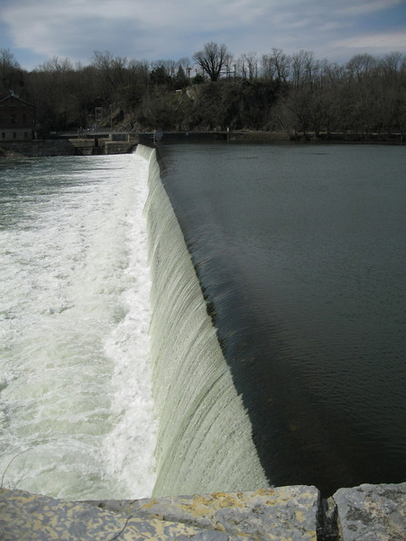 One of several dams on the Potomac. Some were used to feed the canal.