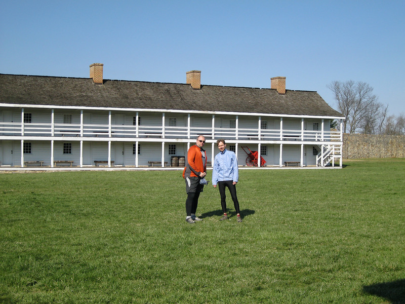 Pavel and me enjoying the sun at Fort Frederick MD.
