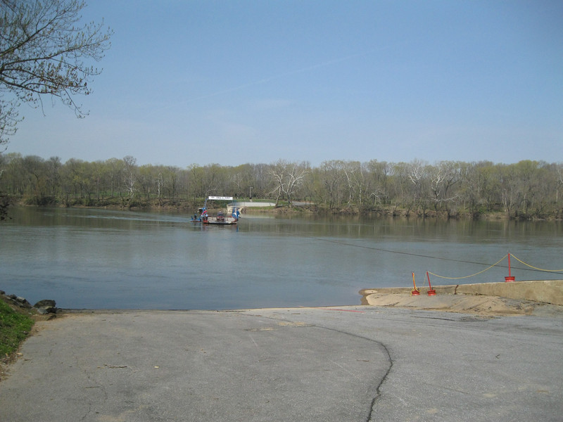 Whites Ferry, the last operating ferry across the Potomac between MD and VA.