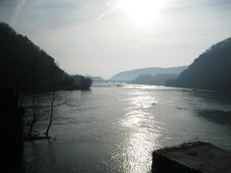 The confluence of the Potomac and Shenadoah Rivers
