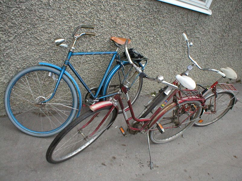 Typical Swedish student bicycles