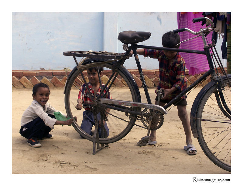Bicycle as a playground attribute