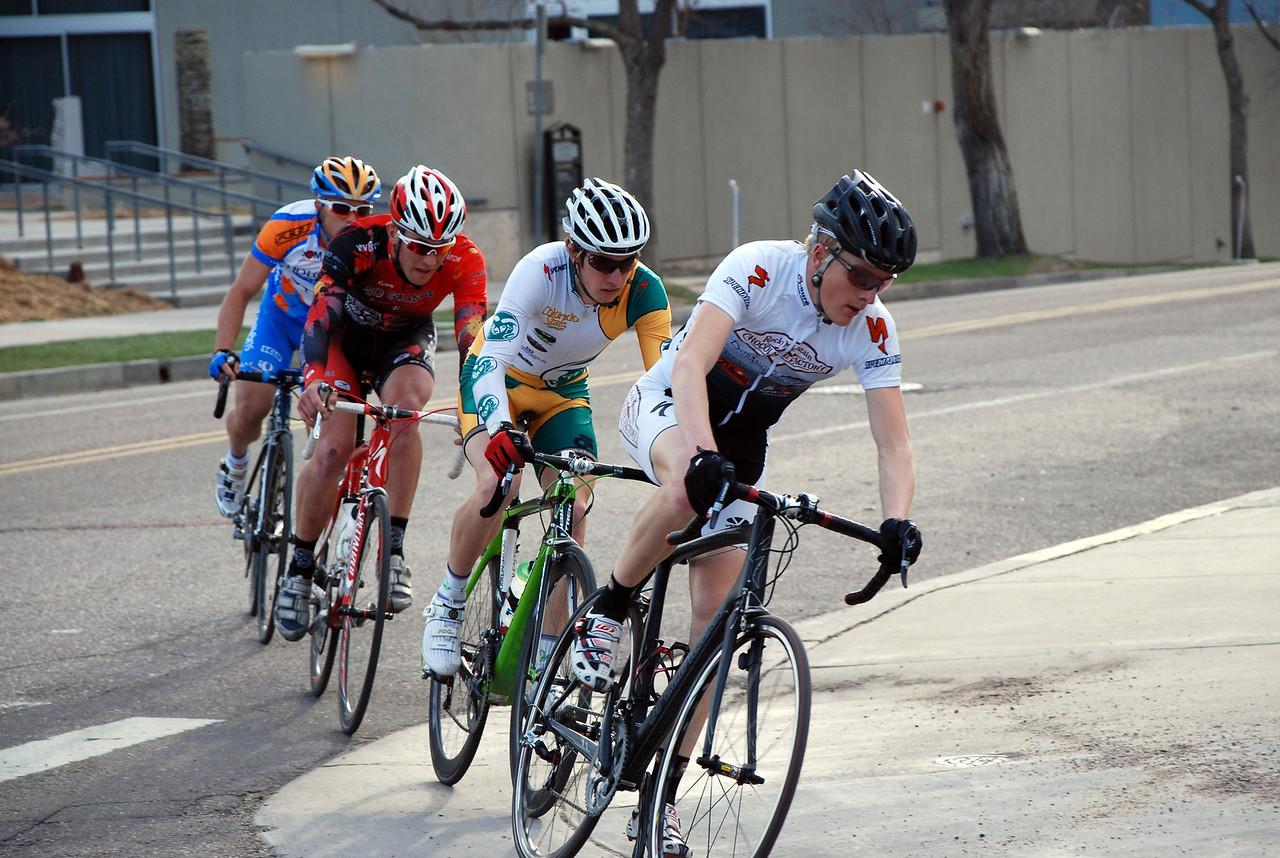 Colorado College Criterium - Matt Shriver Leads Pro Men 1/2 Breakaway Group