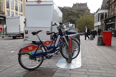 Transport for Edinburgh cycle hire scheme Castle Street