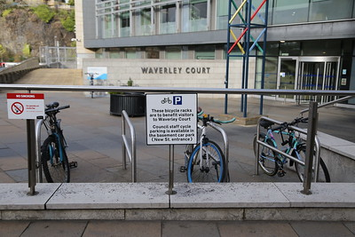 City of Edinburgh Council visitor cycle parking