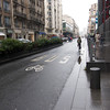 Bike, Bus Lane on Rue du Renard