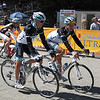 Andy Schleck w/teammate Linus Gerdemann of team Leopard Trek.