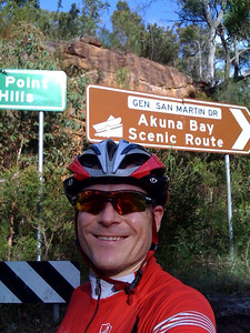 Tuesday morning pre-breakfast ride around Akuna Bay and back. About 60km return - 6th March 2012
