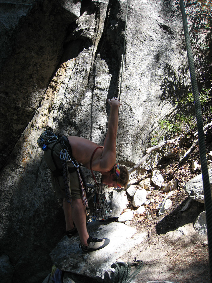 After funk kicked his hangover, he decided to try out the hardest trad climb he's ever tried.