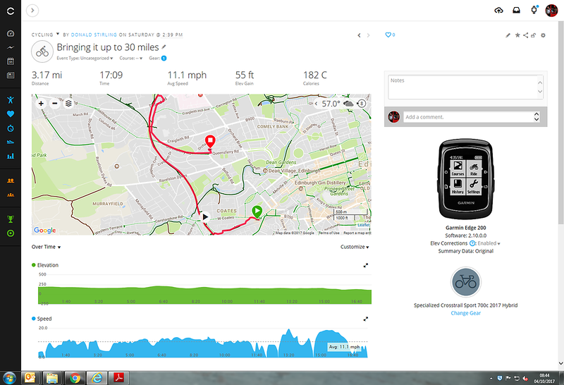 Home from Haymarket to get over 30 miles for the day
