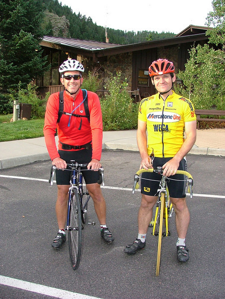 The Lizard and Ferenc in Idaho Springs before their trip up Mount Evans