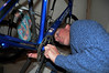 The Lizard worked on his new bike almost every evening for more than a month.