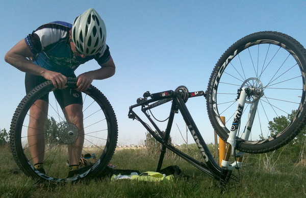 First ride on the Black Pearl resulted in yet another Flat Tire Fest...