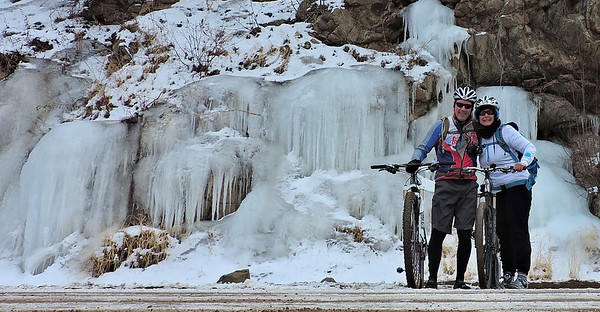 Lizard and Snowcatcher in Waterton Canyon