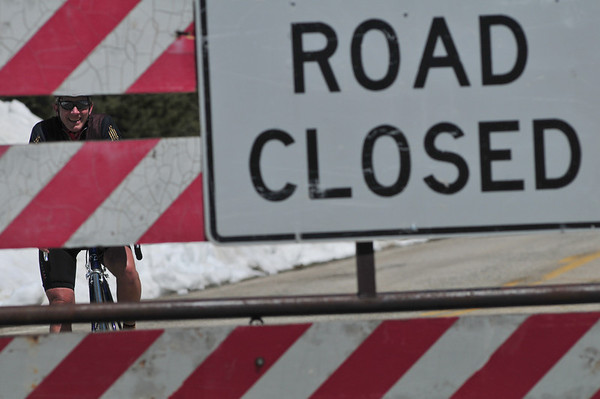 The Lizard had already been up Independence Pass before I reached the road closure.
