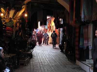 again, suqs in the centre of Marrakech