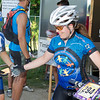 Tanya handing off to Leslie at the transition.