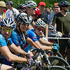Kari in the front of the start line with the elite riders