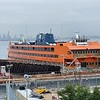 Boarding the Staten Island Ferry to get to the starting point in Lower Manhattan