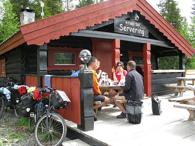 lunch stop in ski area
