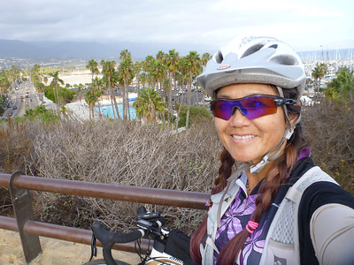 2014 (Oct 16)  Mesa-Goleta-CathedralOaks(Hwy 192)-SanYsidroRd-Summerland(PadaroLn turnaround)-Coast-Mesa (52.6 mi/2270' ascent)