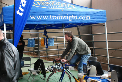 Carmichael Training Systems Indoor Test at the Peak Region Cyclist Bicycle Show