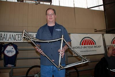 Jeff Tessier with Custom Titanium Frame