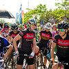 West Quebec Wheelers team looking very relaxed at the starting line