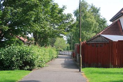 Waverley path looking east from Adambrae Road