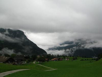 view back on Meiringen while doing the climb to Grosse Scheidegg
