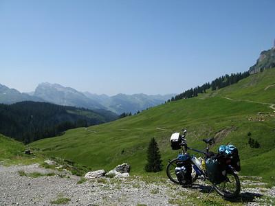 view from Pragelpass
