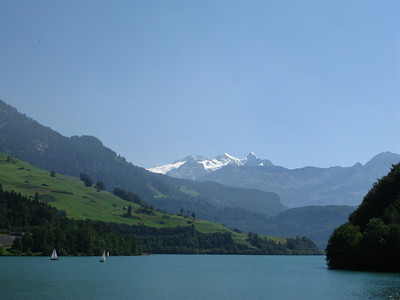 Lungern See, now in good weather