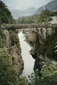 Napoleon's bridge in Kobarid (close to campsite)