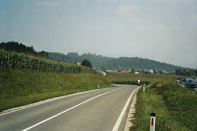 leaving the Soca valley from Idrija onto the Karst-plateau