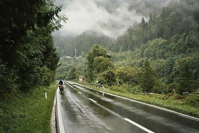 cycling along the river Drava towards Dravograd