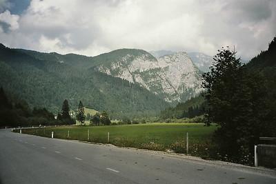 cycling through the valley of Logarska Dolina